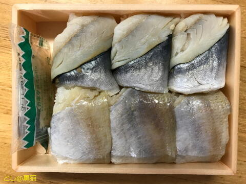 駅弁 大船軒 鯵と小鯛の押し寿司