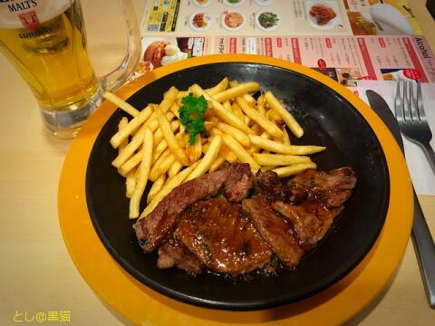 ワイルドカットステーキと ホットアップルパイ